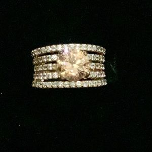 Stacked Style Sparkle Gem Gold Ring